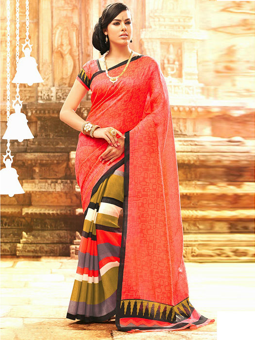 Bhagalpuri Silk Casual Wear Latest Style Beautiful Indian Saree