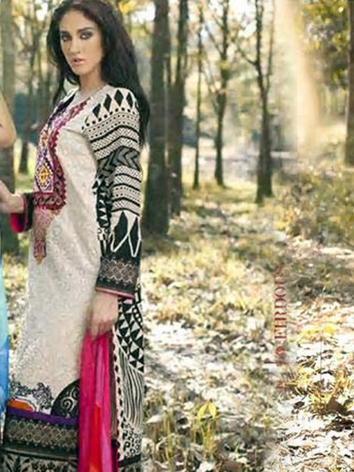 Firdous Latest Lawn Cotton With Embroidered Collection 02 wishcart.in