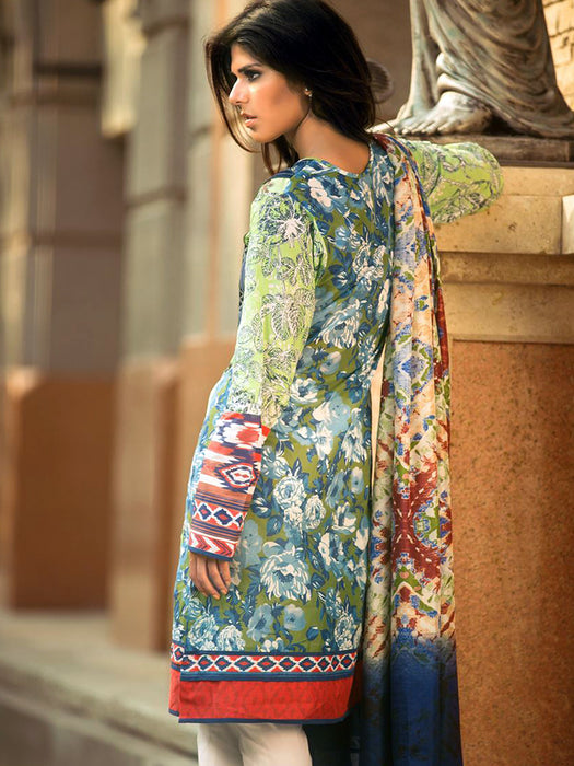 Silk embroidered digital print suit designs@wishcart.in