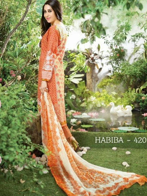 wishcart-store - Latest Habiba Cotton Unstitched Original Pakistani Dresses & Suits Collection - wishcart.in -