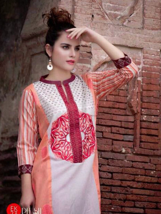 Embroidered kurti collection of Charizma Belle@wishcart.in