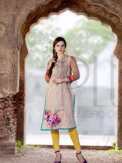 Unstitched embroidery kurti@wishcart.in