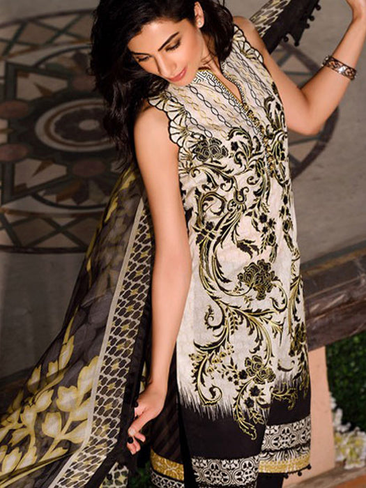 Faraz Manan Crescent Lawn Original Pakistani Dresses & Suits Unstitched Eid Collection 02 wishcart.in
