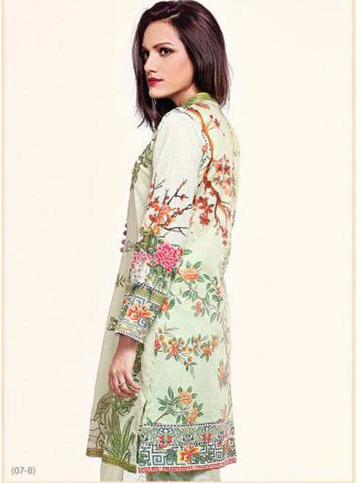 Embroidered digital print suit@wishcart.in
