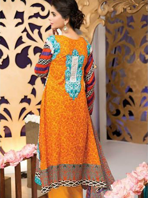 Falak Semi Stitched Original Pakistani Dresses & Pearl Suits With Clutch 08 wishcart.in