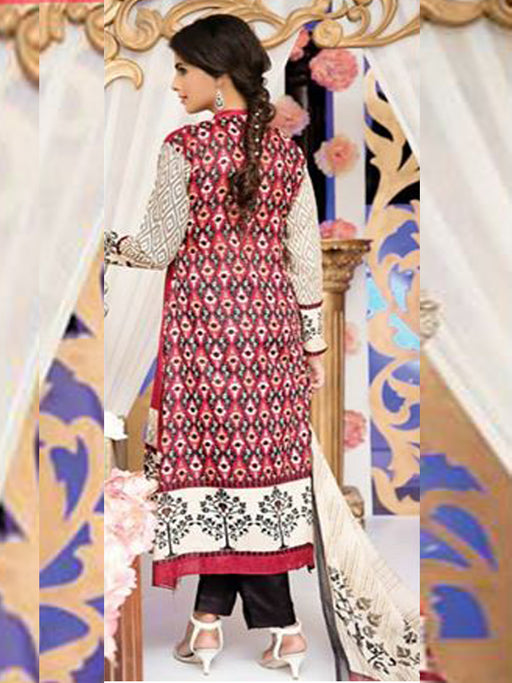 Falak Semi Stitched Original Pakistani Dresses & Pearl Suits With Clutch 05 wishcart.in