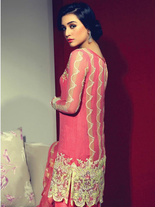 Unstitched embroidered suit@wishcart.in