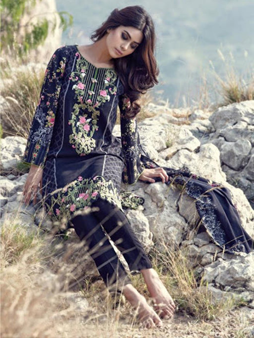 Embroidered Pakistani style party wear suit@wishcart.in