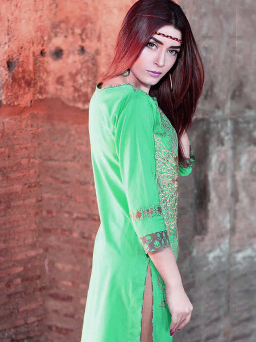 Lawn kurti with embroidery@wishcart.in