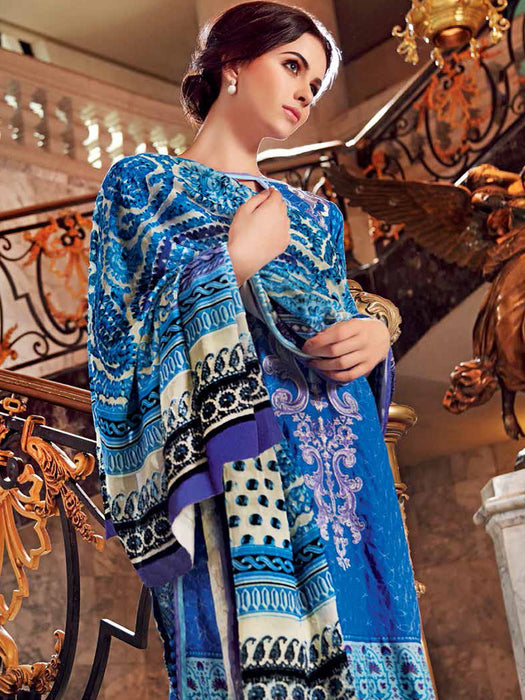 Gul Ahmed Silk Velvet Original Pakistani Dresses & Suits Collection - 05 wishcart.in