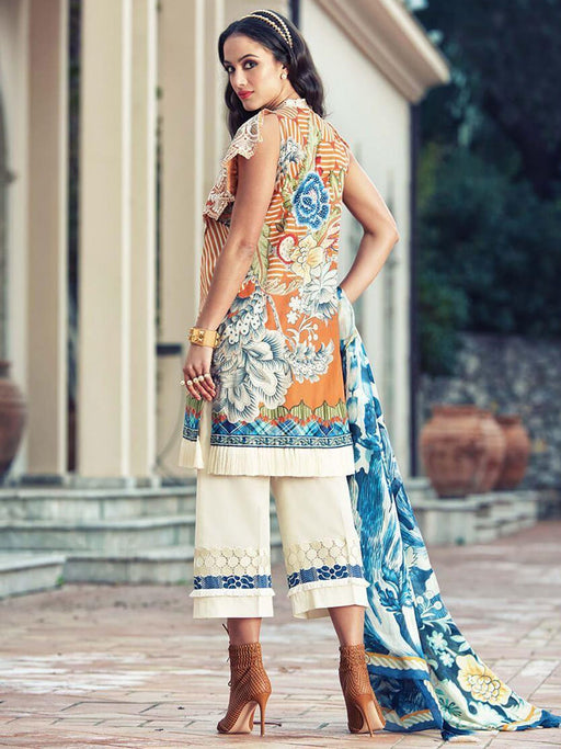 Faraz Manan Embroidered Lawn Original Pakistani Dresses & Suits Collection 04 wishcart.in