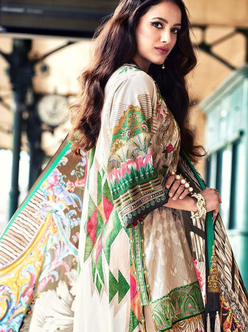 Faraz Manan Embroidered Lawn Original Pakistani Dresses & Suits Collection 06 wishcart.in