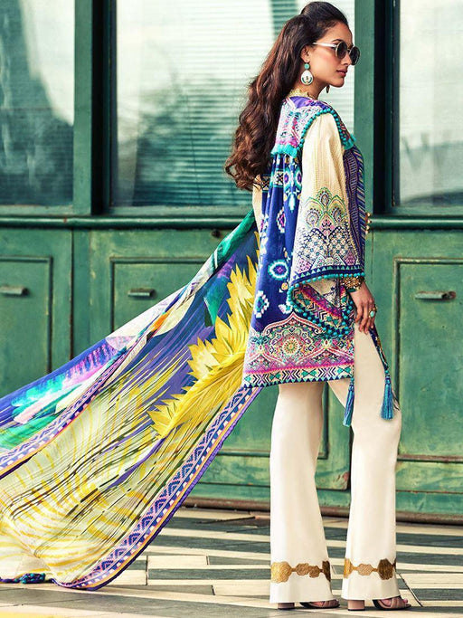 Faraz Manan Embroidered Lawn Original Pakistani Dresses & Suits Collection 02 wishcart.in