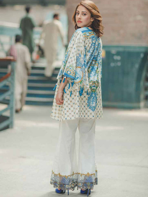 Digital print lace border suit by Rangrasiya@wishcart.in