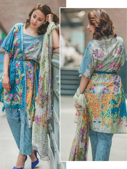 Embroidered lawn suits by Rangrasiya collection@wishcart.in