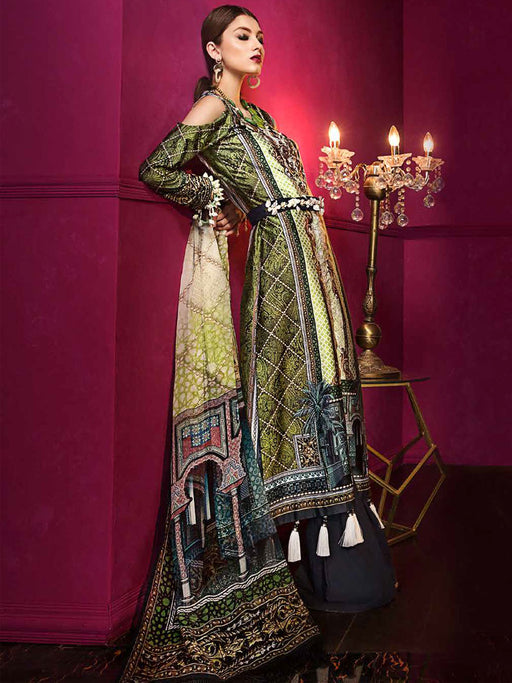 Gul Ahmed Lamis Digital Silk Original Pakistani Dresses & Suits Collection - 02 wishcart.in