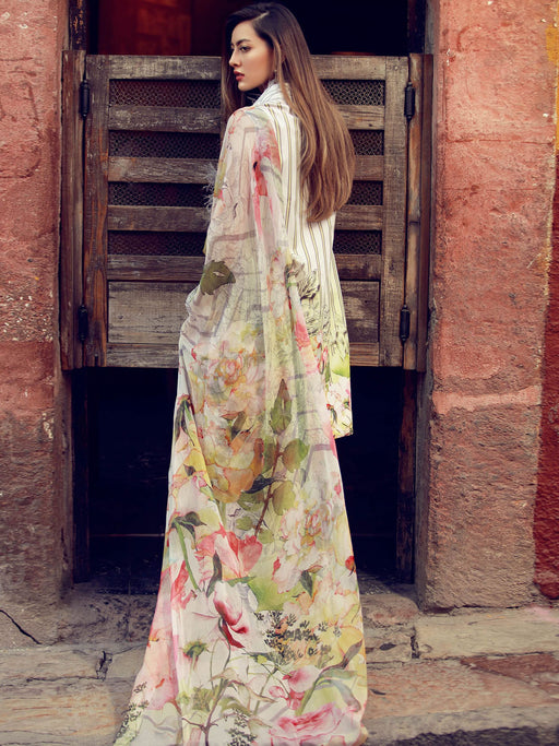 Chiffon dupatta embroidered suit@wishcart.in
