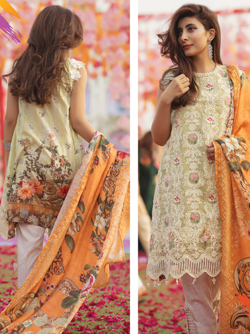 Printed suit with silk dupatta by Rangrasiya collection@wishcart.in