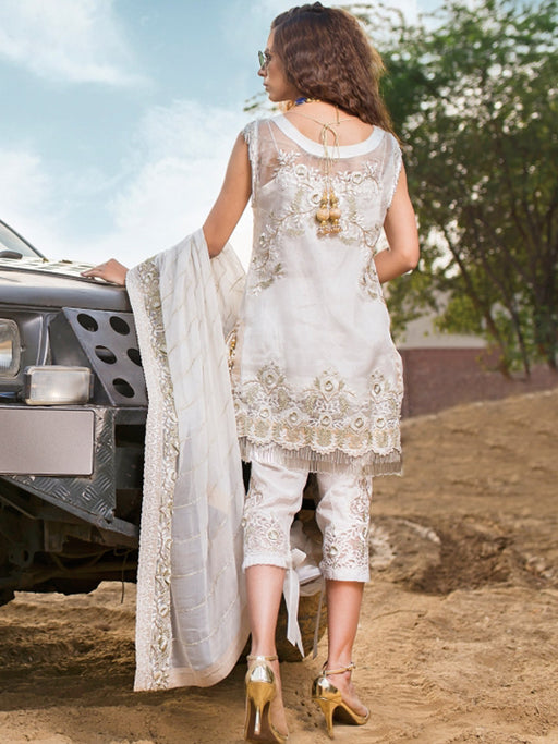 Pakistani designer suit with embroidery and patches@wishcart.in