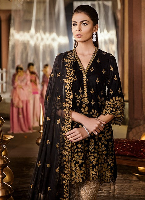 Iznik Festive Velvet Original Pakistani Dresses & Suits Collection MOONLESS NIGHT - 10 wishcart.in