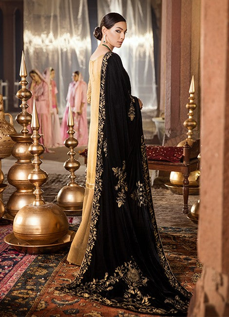 Iznik Festive Velvet Original Pakistani Dresses & Suits Collection RICH GOLD - 14 wishcart.in