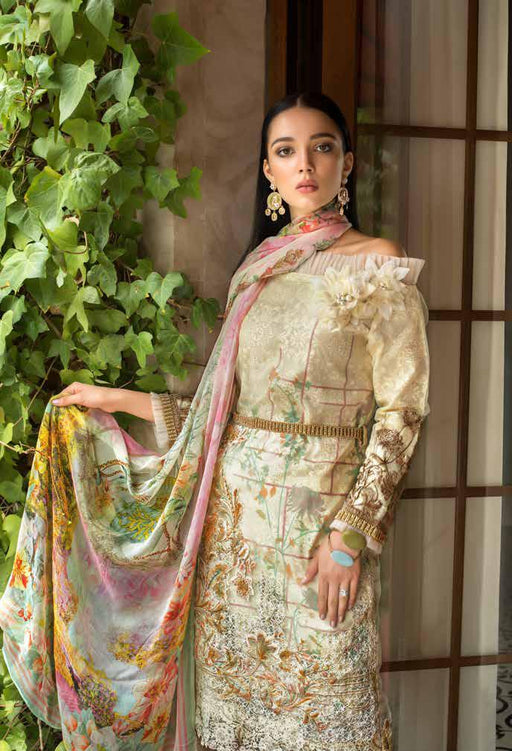 Gul Ahmed Original Pakistani Dresses & Suits Formal Collection 2019 - Laced Love 02 wishcart.in