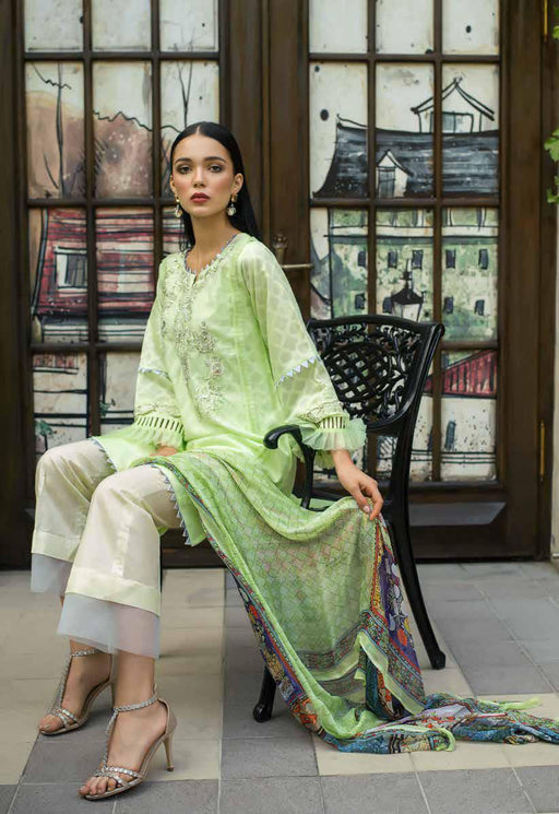 Gul Ahmed Original Pakistani Dresses & Suits Formal Collection 2019 PS05 - Spaded Jade 02 wishcart.in