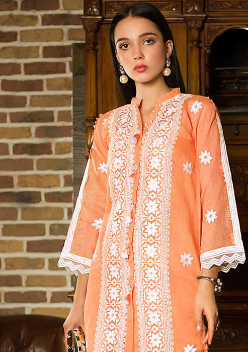 Gul Ahmed Original Pakistani Dresses & Suits Formal Collection 2019 - Zesty Peach 02 wishcart.in