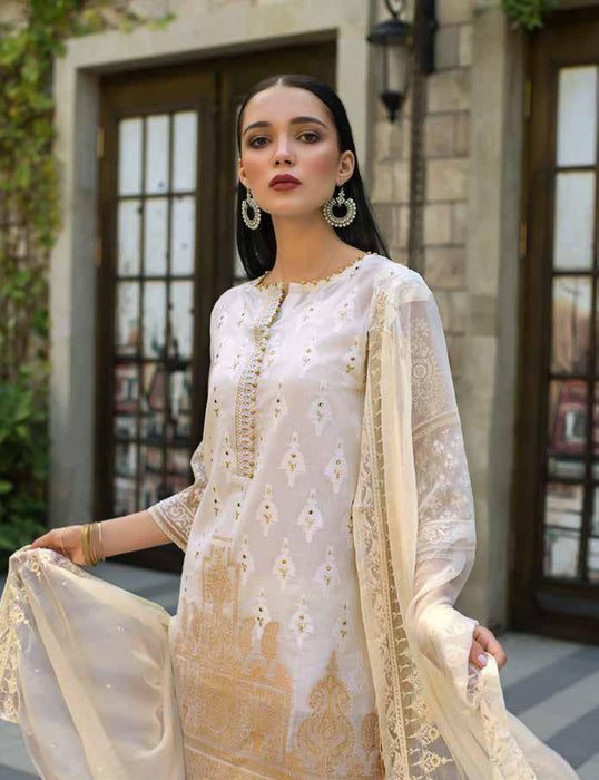 Gul Ahmed Original Pakistani Dresses & Suits Formal Collection 2019 - PWoven Caramel 02 wishcart.in