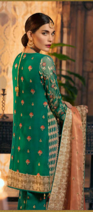 Embroidered front back suit by Maryum N Maria@wishcart.in