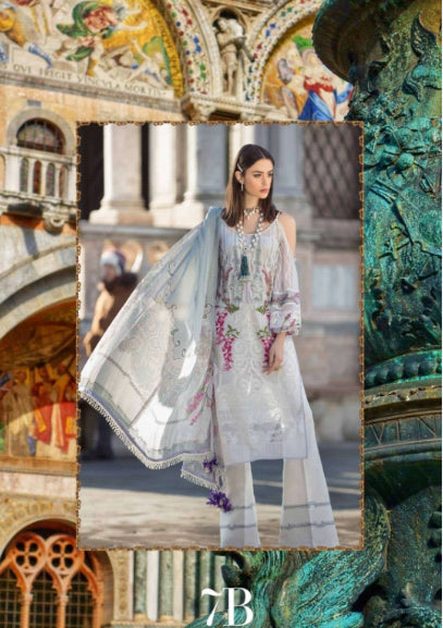 Sana Safinaz Luxury Lawn Collection 19 - 7B - Veneziano