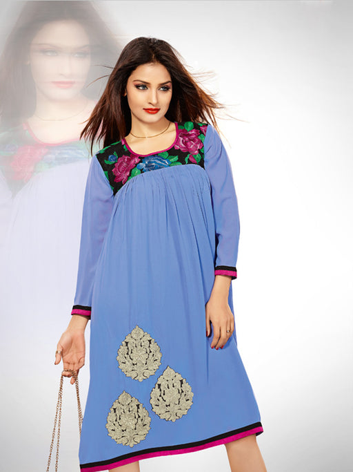 Designer party and casual look kurti@wishcart.in