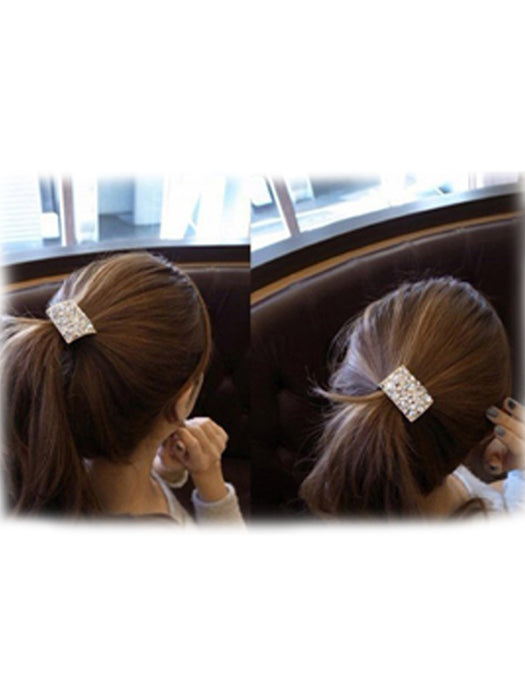Party wear golden color hair accessories@wishcart.in