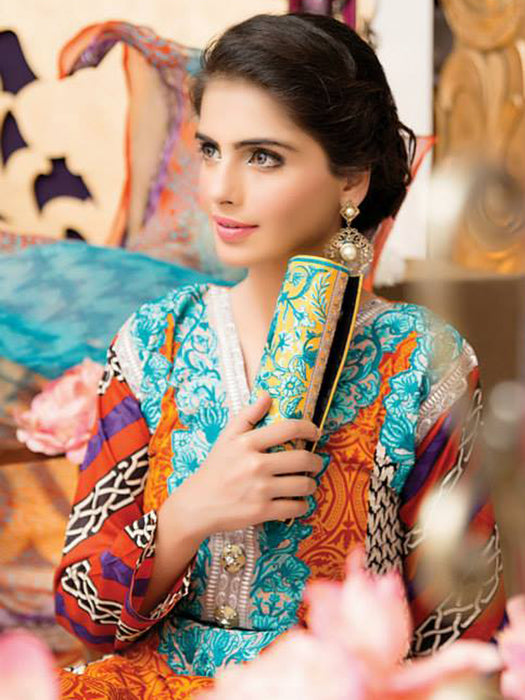 Falak Semi Stitched Original Pakistani Dresses & Pearl Suits With Clutch 09 wishcart.in