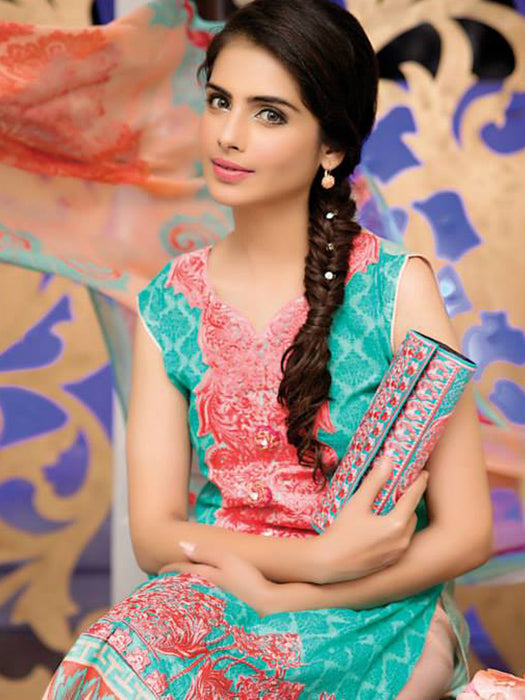 Falak Semi Stitched Original Pakistani Dresses & Pearl Suits With Clutch 03 wishcart.in