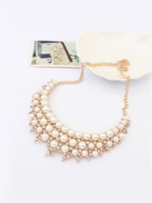 Party wear pearl necklace@wishcart.in