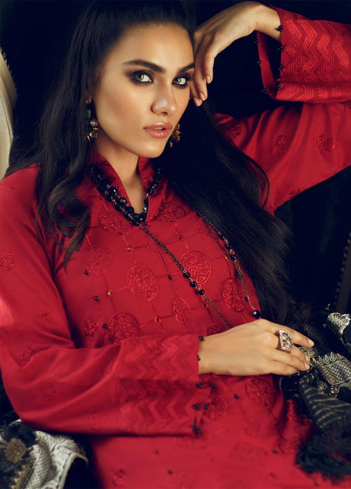 Wishcart-Pakistanisuits-Rouche Embroidered Chikankari Luxury Collection '19 Scarlet Shevron 01 2