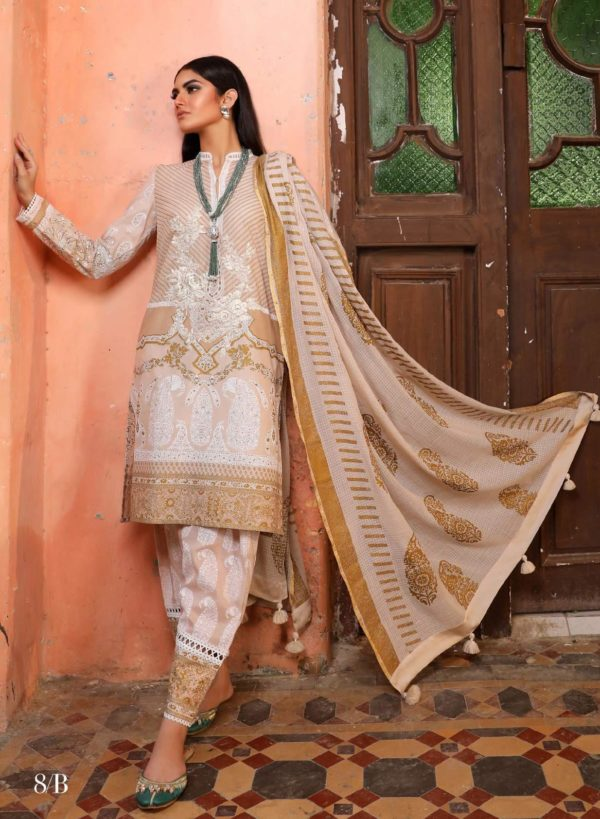 Wishcart.in Sana Safinaz Kurnool Lawn Original Pakistani Dresses and Suits 14A