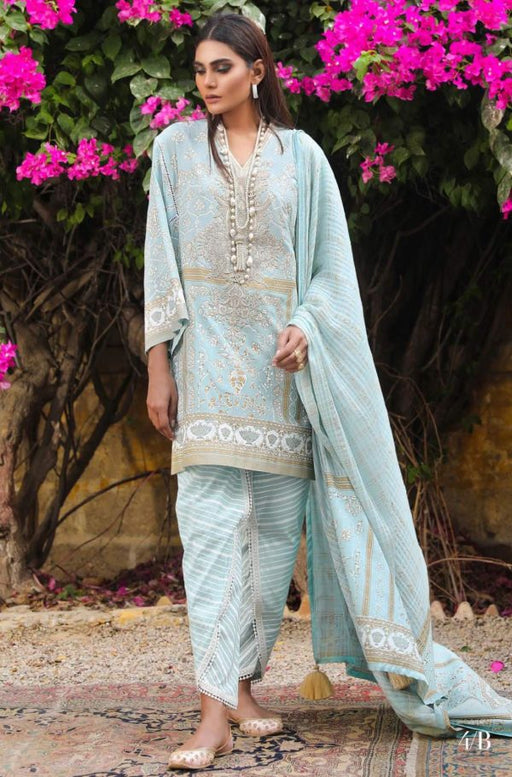 Wishcart.in Sana Safinaz Kurnool Lawn Original Pakistani Dresses and Suits 15A
