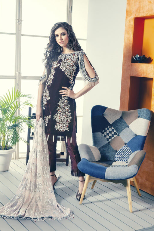 Zara Hayaat Winter Festive Velvet 2020 RAISIN W4