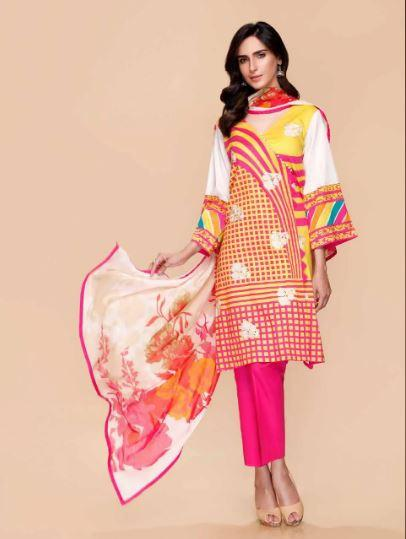 wishcart-Pakistanisuits-Charizma Yellow Spring and Summer Lawn Suits 2020-04C