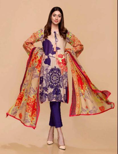 wishcart-Pakistanisuits-Charizma Yellow Spring and Summer Lawn Suits 2020-03A
