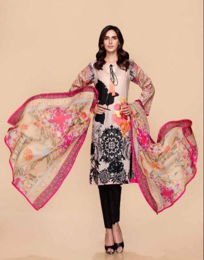 wishcart-Pakistanisuits-Charizma Yellow Spring and Summer Lawn Suits 2020-03C