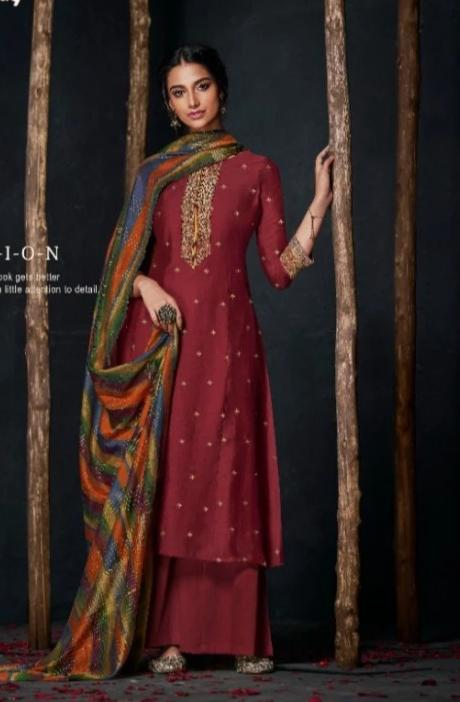 wishcart-Indiansuits-Aloha Bemberg Silk Suits By Jay Vijay - D2106