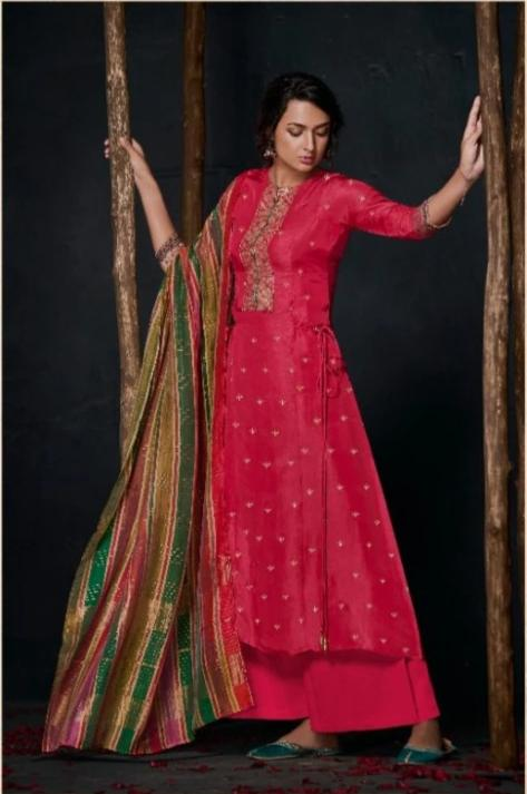 wishcart-Indiansuits-Aloha Bemberg Silk Suits By Jay Vijay - D2107