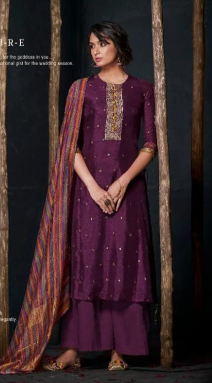 wishcart-Indiansuits-Aloha Bemberg Silk Suits By Jay Vijay - D2108