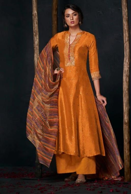 wishcart-Indiansuits-Aloha Bemberg Silk Suits By Jay Vijay - D2109