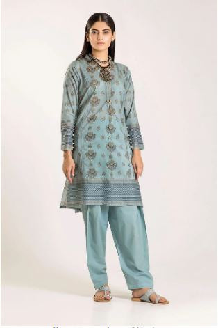 wishcart-Pakistanisuits-Khaadi Winter Vibes Collection 2019 Blue CJ19501