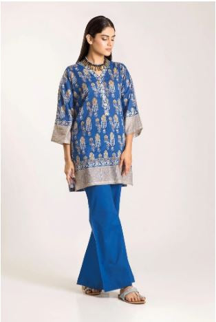 wishcart-Pakistanisuits-Khaadi Winter Vibes Collection 2019 Blue CJ19502