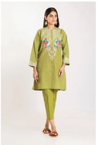 wishcart-Pakistanisuits-Khaadi Winter Vibes Collection 2019 Green CHI19508